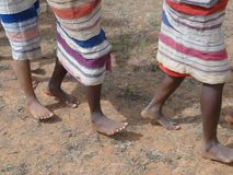 Detail, feet of women dancing Royalty Free Stock Photo