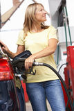 Detail Of Female Motorist Filling Car With Diesel Stock Image