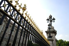 Detail of a fence around Buckingham royal residence royalty free stock image