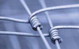 Detail of fence as a symbol of fixed connection and cohesion Royalty Free Stock Photography