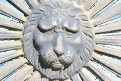 Detail of a fence in the form of a lion's head Royalty Free Stock Images