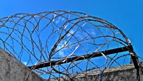 Detail of the fence of thorns of the fremantle prison. royalty free stock photos