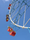 Detail of a Ferris wheel with closed cabins for passengers in the city of Sochi Lazarevskoye Royalty Free Stock Photo
