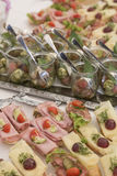 Detail of a festive buffet Royalty Free Stock Images