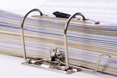 Detail of file folder Stock Photos