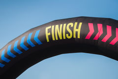 Detail of finish sign at the Color Run 2014 in Milan, Italy Stock Photos