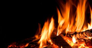Detail of fire. Stock Photography