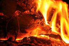 Detail of fire Stock Image