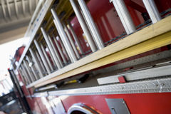 Detail of a fire engine Royalty Free Stock Photo