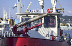 Detail of fireboat Stock Photography