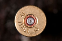 Detail of fired shotgun cartridge Royalty Free Stock Photography