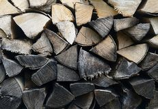 Detail of firewood stack Royalty Free Stock Photos