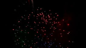 Detail of fireworks stock video