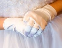 Detail of a First Communion Stock Image