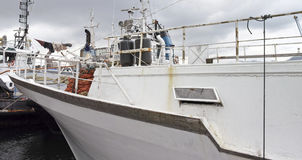 Detail of fishing boat Stock Images