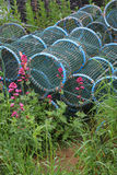 Detail of Fishing Net and Lobster Pots Stock Images