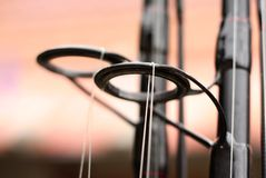 Detail fishing rod Stock Images