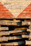 Detail of a Fishing Shed Stock Image