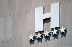 Detail of a five stars luxury hotel facade Royalty Free Stock Photos