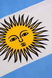 Detail on the flag of Argentina Royalty Free Stock Images