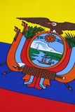 Detail on the flag of Ecuador Stock Photo
