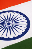 Detail on the flag of India Stock Photography