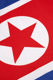 Detail on the flag of North Korea Royalty Free Stock Image