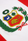 Detail on the flag of Peru Stock Photography