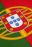 Detail on the flag of Portugal royalty free stock image