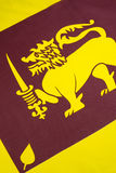 Detail on the flag of Sri Lanka Royalty Free Stock Image