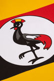 Detail on the flag of Uganda Royalty Free Stock Photos