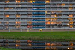 Detail of flats in sunset glow Stock Image