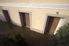 Detail of flooded house Stock Images