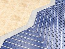 Detail of floor heater. 3d rendering image Royalty Free Stock Photos