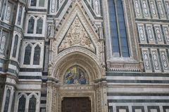 Detail of Florence Cathedral stock images