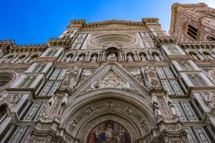 Detail of Florence Cathedral. royalty free stock photo
