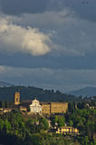 Detail of Florence and its surrounding landscape Royalty Free Stock Photography