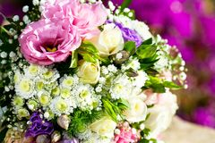 Detail of flower bouquet. Stock Photo