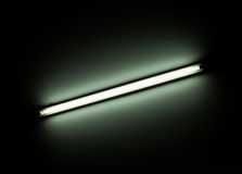 Detail of a fluorescent light tube Royalty Free Stock Images