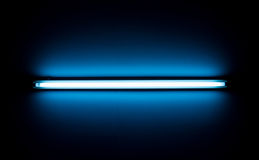 Detail of a fluorescent light tube Stock Image
