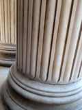 Greek Revival Stone Pillars, St Paul`s Cathedral, London, UK. Detail of fluted neoclassical Greek revival stone pillars, St Paul`s Cathedral, London, United royalty free stock images