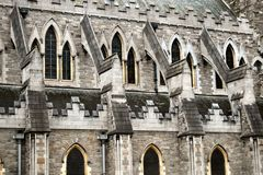 Flying buttress, Christ Church Cathedral, Dublin Stock Photography
