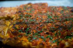 Detail of Focaccia. Traditional Food from Italy Royalty Free Stock Photos