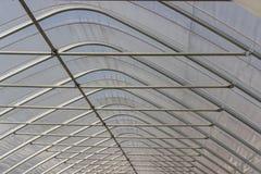 Foil tent. Detail of a foil tent stock images