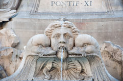 Detail of the Fontana del Pantheon in Rome, Italy. Royalty Free Stock Image