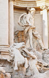Detail of Fontana di Trevi Royalty Free Stock Images