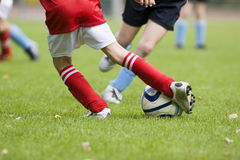 Detail of a football match Royalty Free Stock Photography