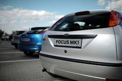 Detail of Ford Focus MK1 stock images