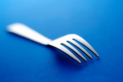 Detail of fork. Shallow depth of field Stock Photo