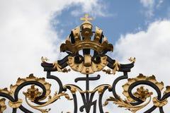Detail form the castle gate, Prague,,, Stock Photo
